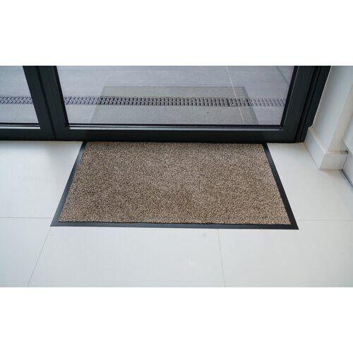 Symple Stuff Stacy Dirt PVC Rubber Edged Barrier Doormat Symple Stuff Mat Size: Rectangle 100 x 150cm, Colour: Beige  - Size: 23cm H x 40cm W x 40cm D