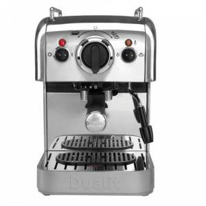 Dualit Espresso and Coffee Machine Dualit Colour: Chrome  - Chrome - Size: 33cm H X 20cm W X 28cm D