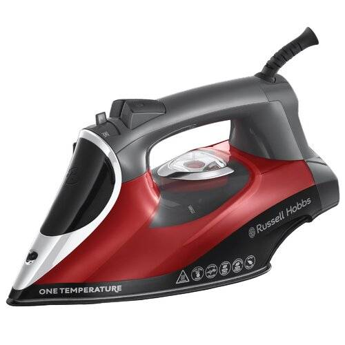 Russell Hobbs One Temperature Steam 2600W Iron Russell Hobbs  - Size: 41cm H X 23cm W X 37cm D