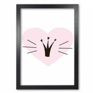 East Urban Home 'Crown with Heart' Painting in Pink East Urban Home Format: Black Grain Frame, Size: 60 cm H x 42 cm W x 5 cm D  - Size: 60 cm H x 42 cm W x 5 cm D