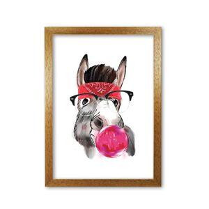 East Urban Home 'Gangster Donkey' Graphic Art East Urban Home Format: Honey Oak Frame, Size: 85 cm H x 60 cm W x 5 cm D  - Size: 85 cm H x 60 cm W x 5 cm D
