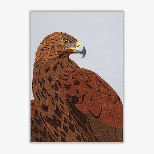 East Urban Home Golden Eagle Graphic Art Print East Urban Home Format: Unframed, Size: 84.1 cm H x 59.4 cm W  - Size: 84.1 cm H x 59.4 cm W
