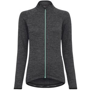 dhb MTB Long Sleeve Womens Thermal Zip Jersey - UK 14 Dark Grey