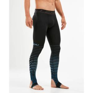 2XU Power Recovery Compression Tights - XL Black/Denim