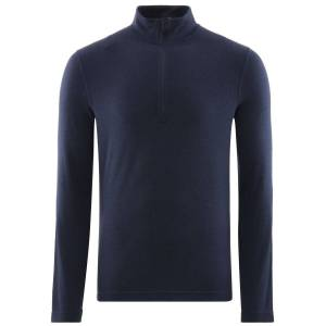 Fohn Merino Long Sleeve Zip Baselayer (250) - Extra Large Navy