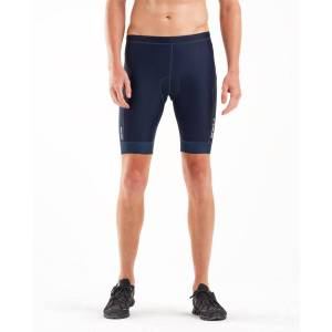 "2XU Perform 9"" Tri Short - Extra Large Midnight/Fresh Blue"