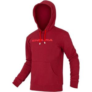 Endura One Clan Hoodie - S Red   Hoodies; Male