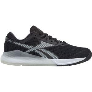 Reebok Women's Nano 9.0 Gym Shoes - UK 8 BLACK/WHITE/SILVER M