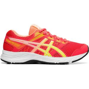 Asics Contend 5 GS Running Shoes - UK 4 Laser Pink/Sour Yuzu
