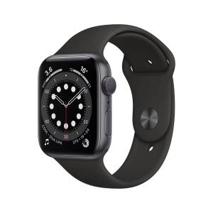 Apple Watch Series 6 GPS 44mm Space Grey Black Band - 44mm   Watches; Unisex