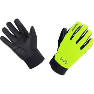 Gore Wear  C5 Gore-Tex Thermo Gloves - 7 Neon Yellow/Black   Gloves; Unisex