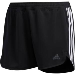 adidas Women's 3 Stripe Knit Short - Plus Extra Large Black/White