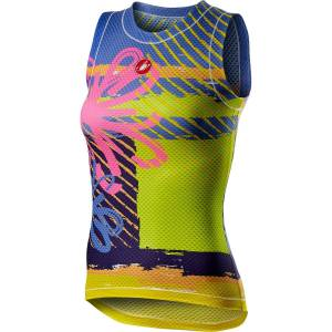Castelli Women's Pro Mesh Base Layer - XS Pink Fluo Flower
