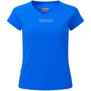 OMM Women's Bearing Short Sleeve Tee - Extra Large Blue   T-Shirts; Female