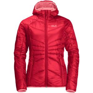 Jack Wolfskin Women's Argon Insulated Hoody - Extra Large Clear Red; Female