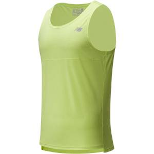 New Balance Acclerate Singlet - Extra Large Lime   Running Vests