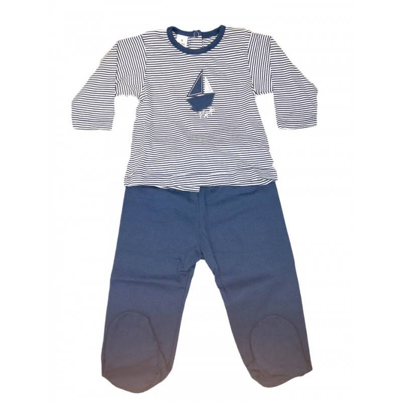 RAPIFE Complete 2pz tshirt and newborn baby sitter Rapife white blue 6 m