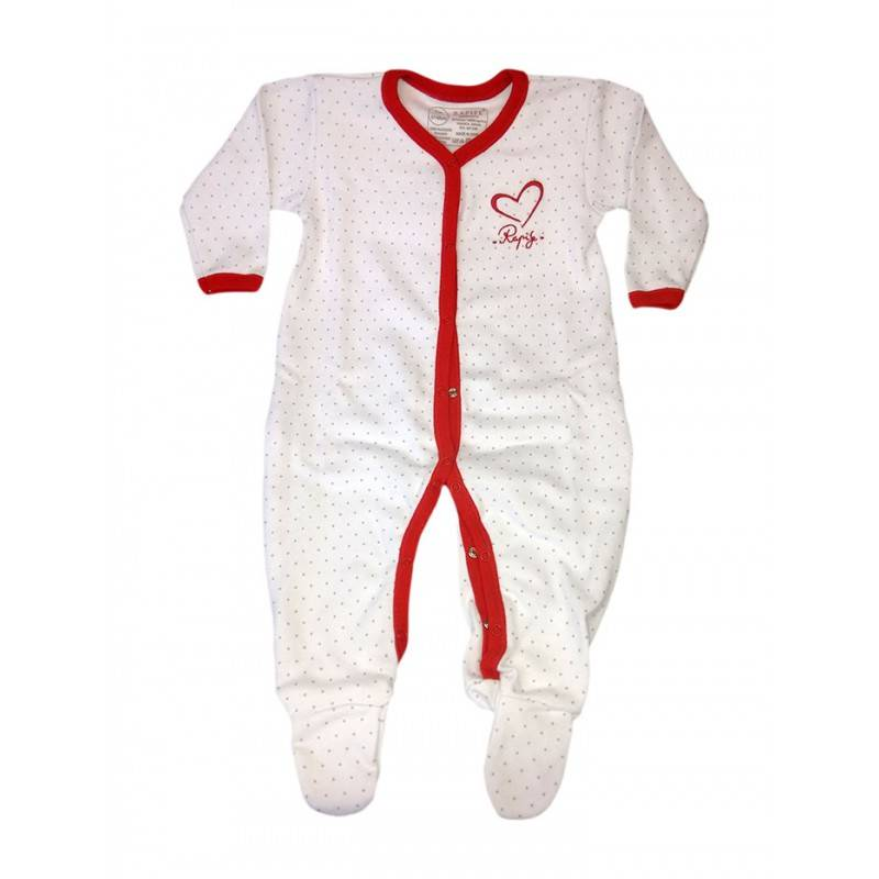 RAPIFE Jumpsuit cotton baby girl newborn Rapifei white red 3 m