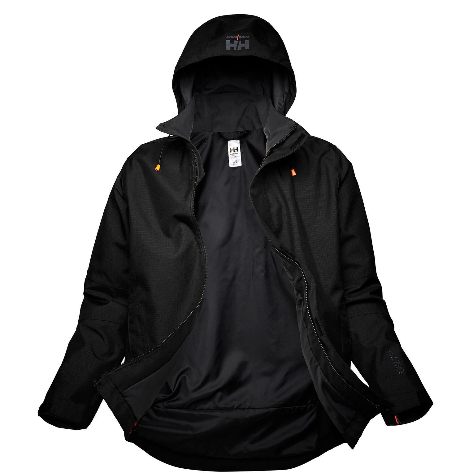HH Workwear Workwear Oxford Waterproof Shell Jacket Black XXL