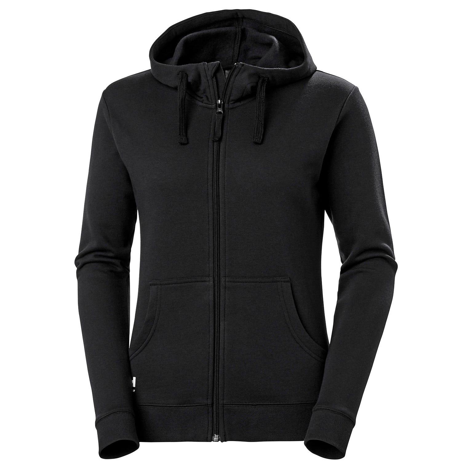 HH Workwear Workwear Women's Manchester Cotton Zip Hoodie Black XXL