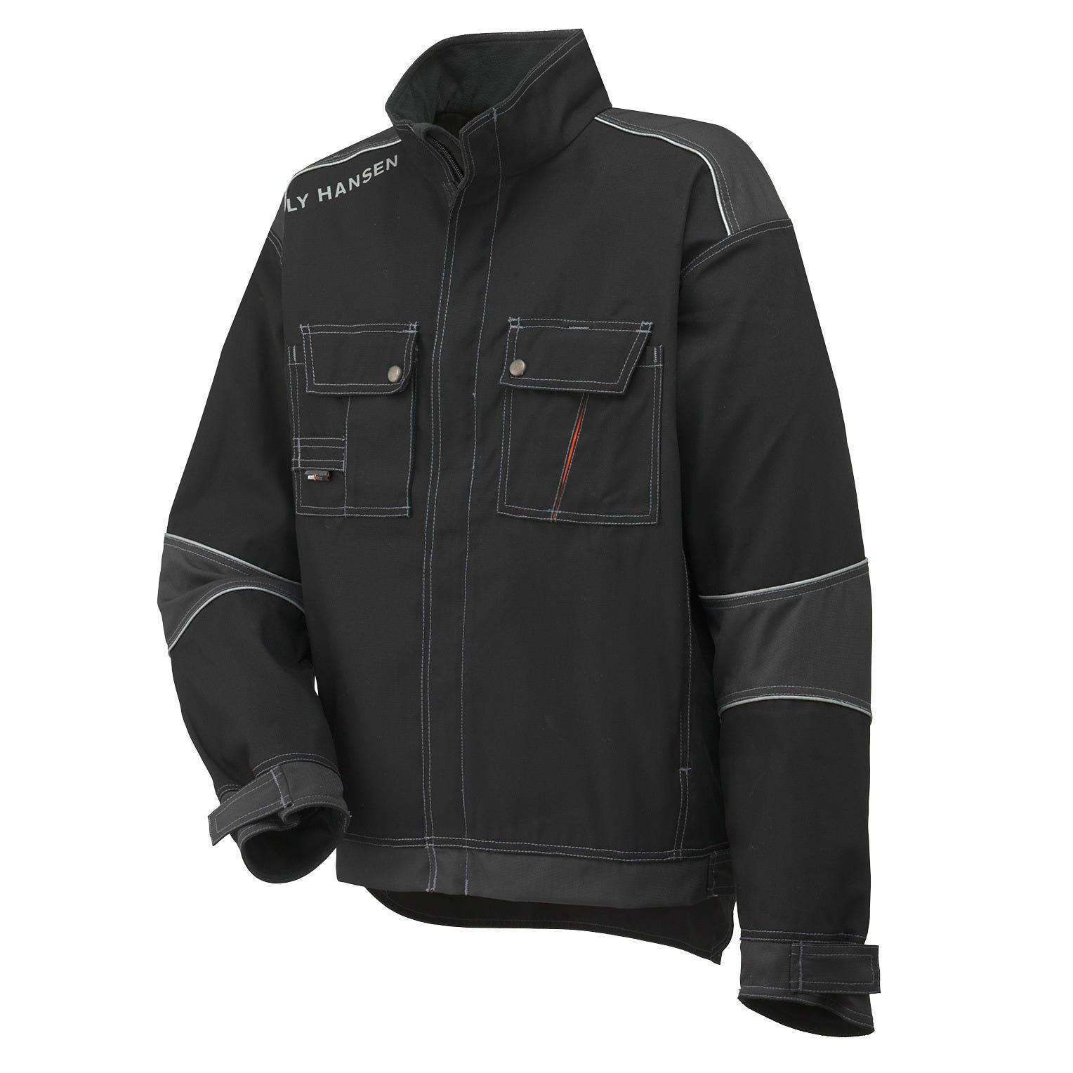 HH Workwear Workwear Chelsea Reinforced Reflective Work Jacket Black XXXL