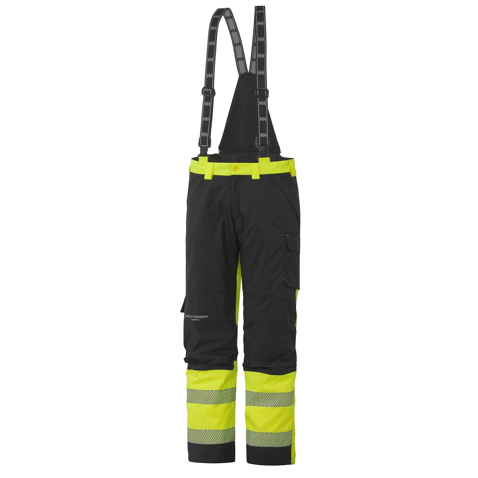 HH Workwear Workwear York Class 1 High Vis Insulated Work Bibs Yellow L