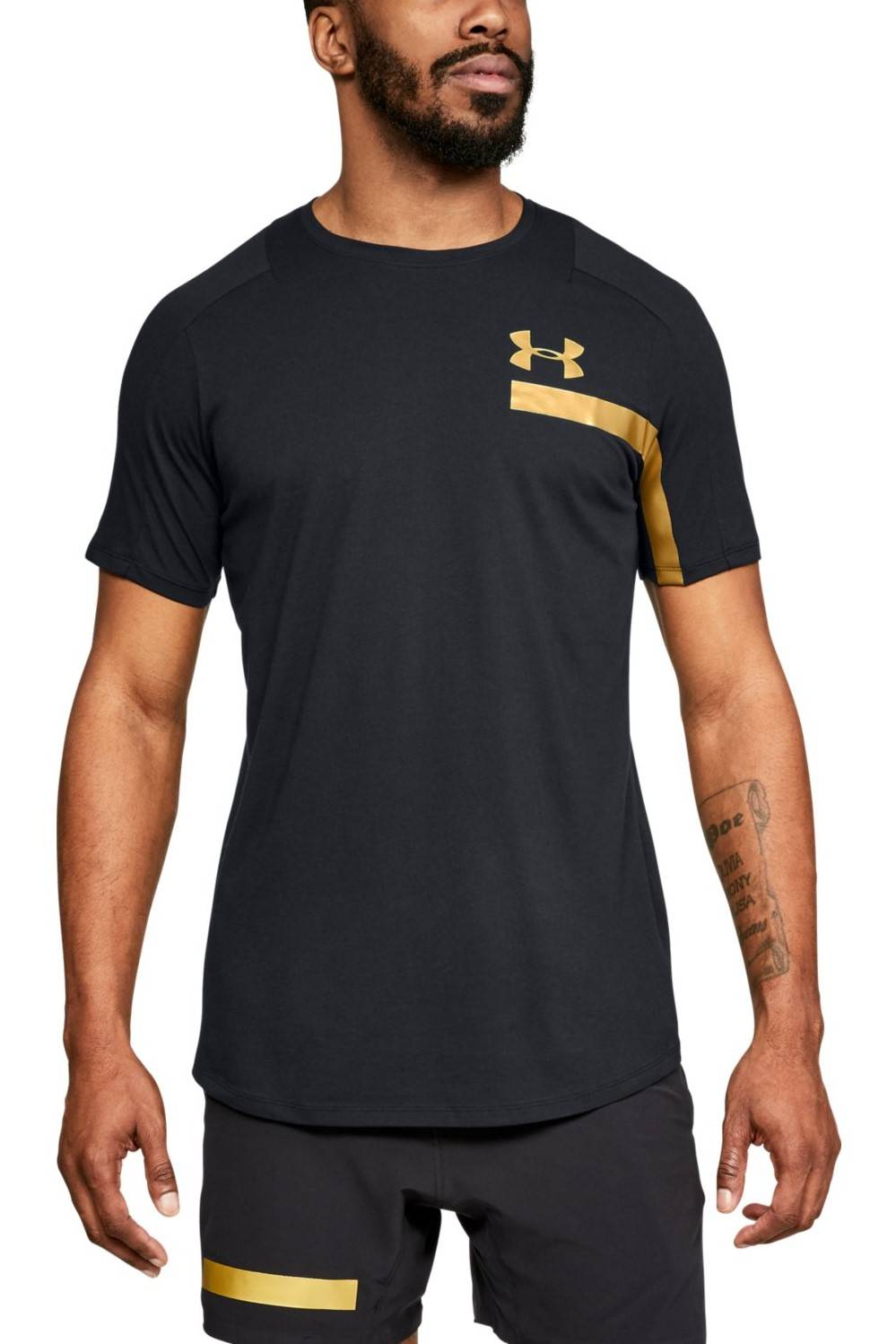 Under Armour black men's sports shirt by Perpetl SS Graphic