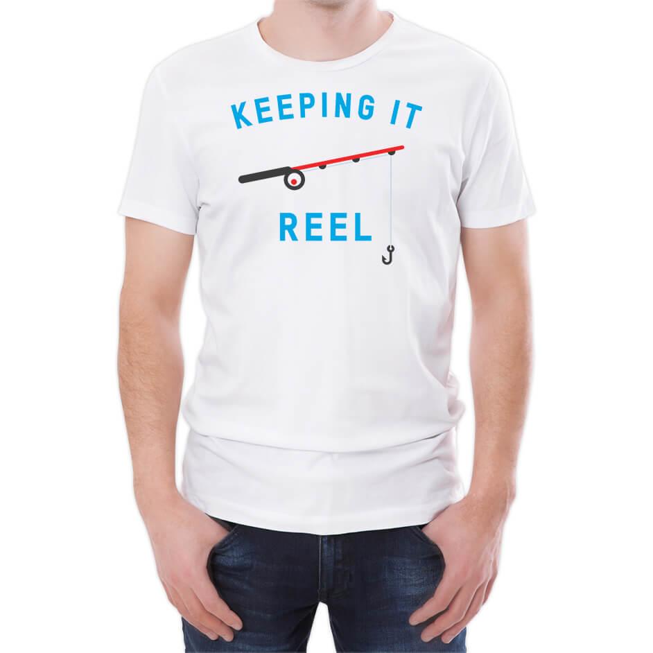 T-Junkie Keeping It Reel Men's White T-Shirt - L - White