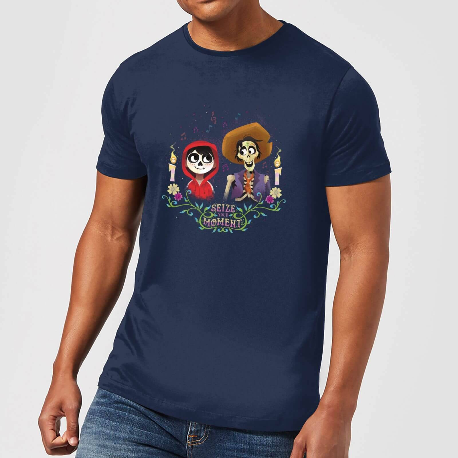 Disney Coco Miguel And Hector Men's T-Shirt - Navy - XXL - Navy