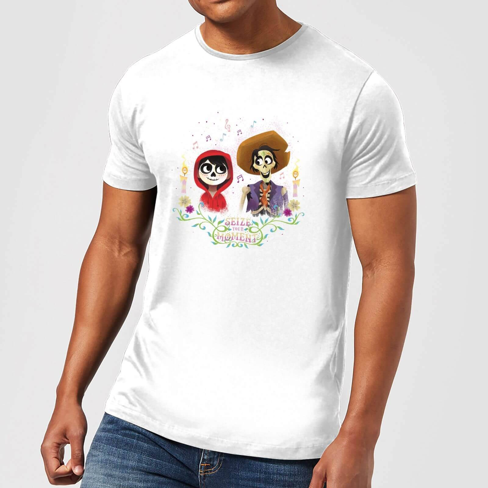 Disney Coco Miguel And Hector Men's T-Shirt - White - 5XL - White