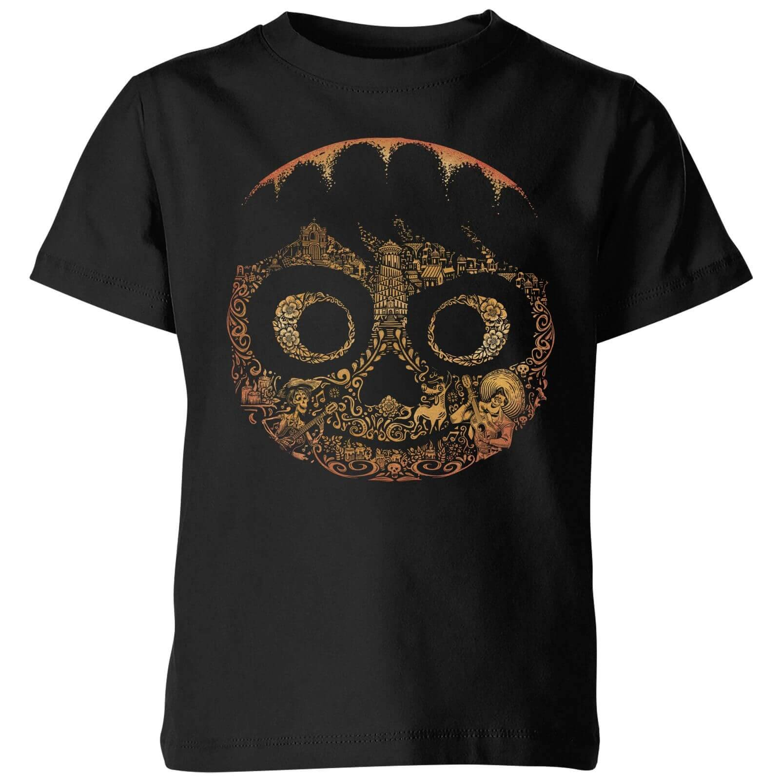 Disney Coco Miguel Face Kids' T-Shirt - Black - 7-8 Years - Black