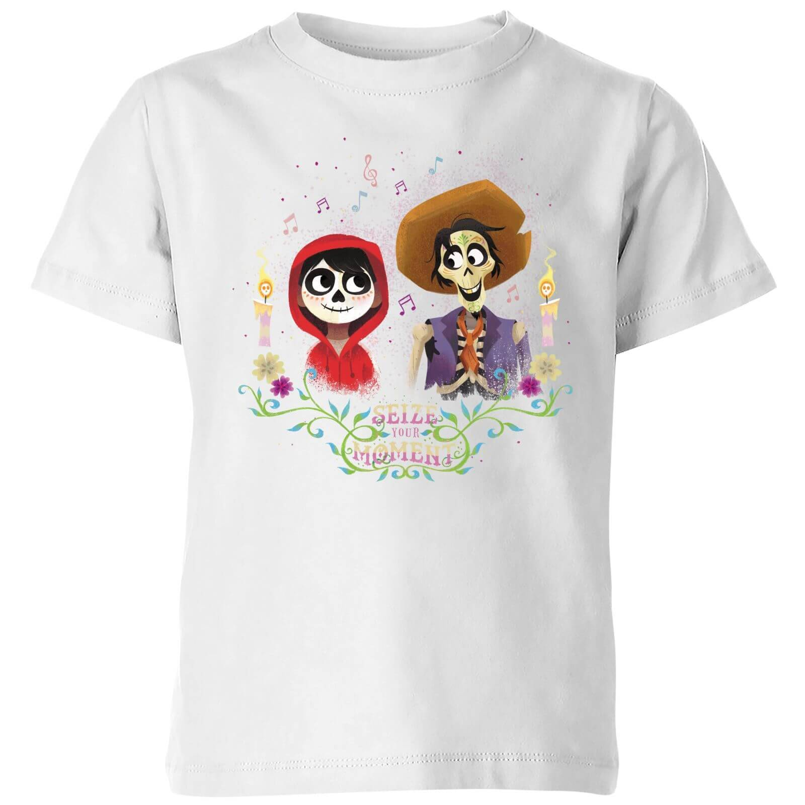 Disney Coco Miguel And Hector Kids' T-Shirt - White - 9-10 Years - White