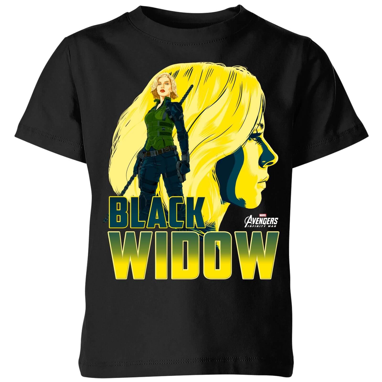 Marvel Avengers Black Widow Kids' T-Shirt - Black - 5-6 Years - Black