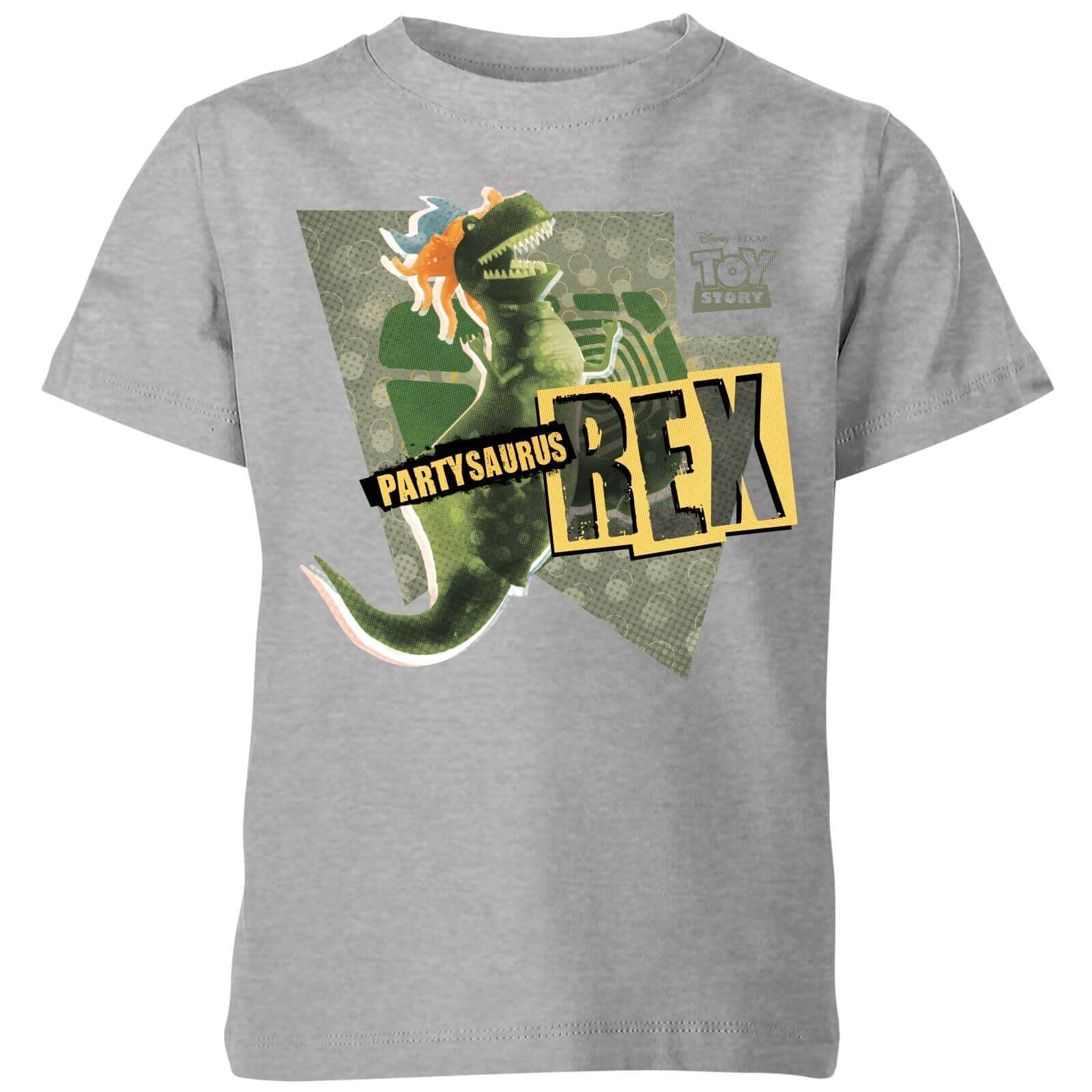 Toy Story Partysaurus Rex Kids' T-Shirt - Grey - 7-8 Years - Grey