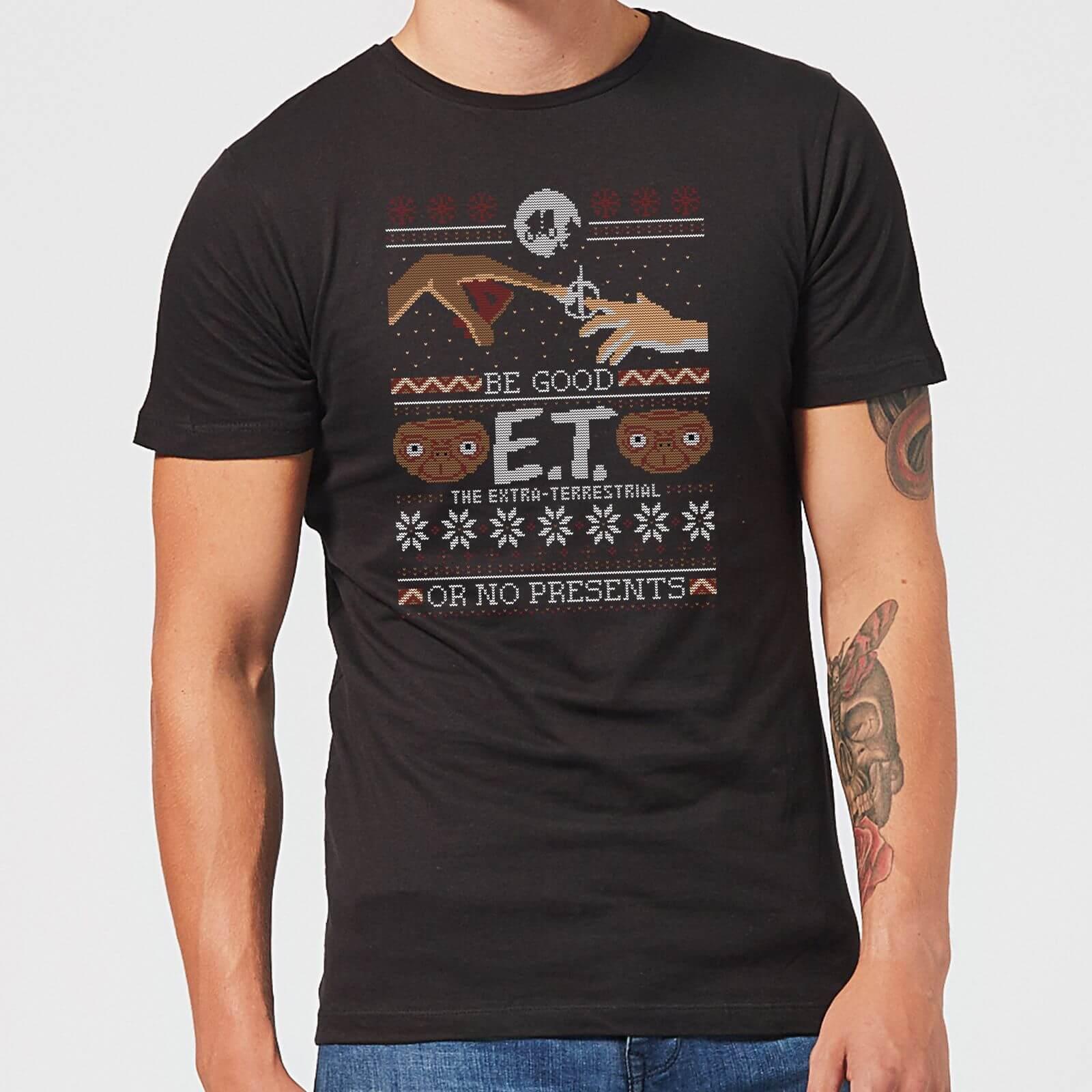 E.T. the Extra-Terrestrial Be Good or No Presents Men's T-Shirt - Black - S - Black
