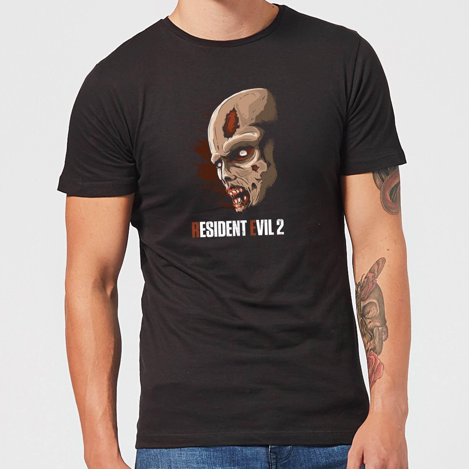Resident Evil 2 Zombie Face Men's T-Shirt - Black - 5XL - Black