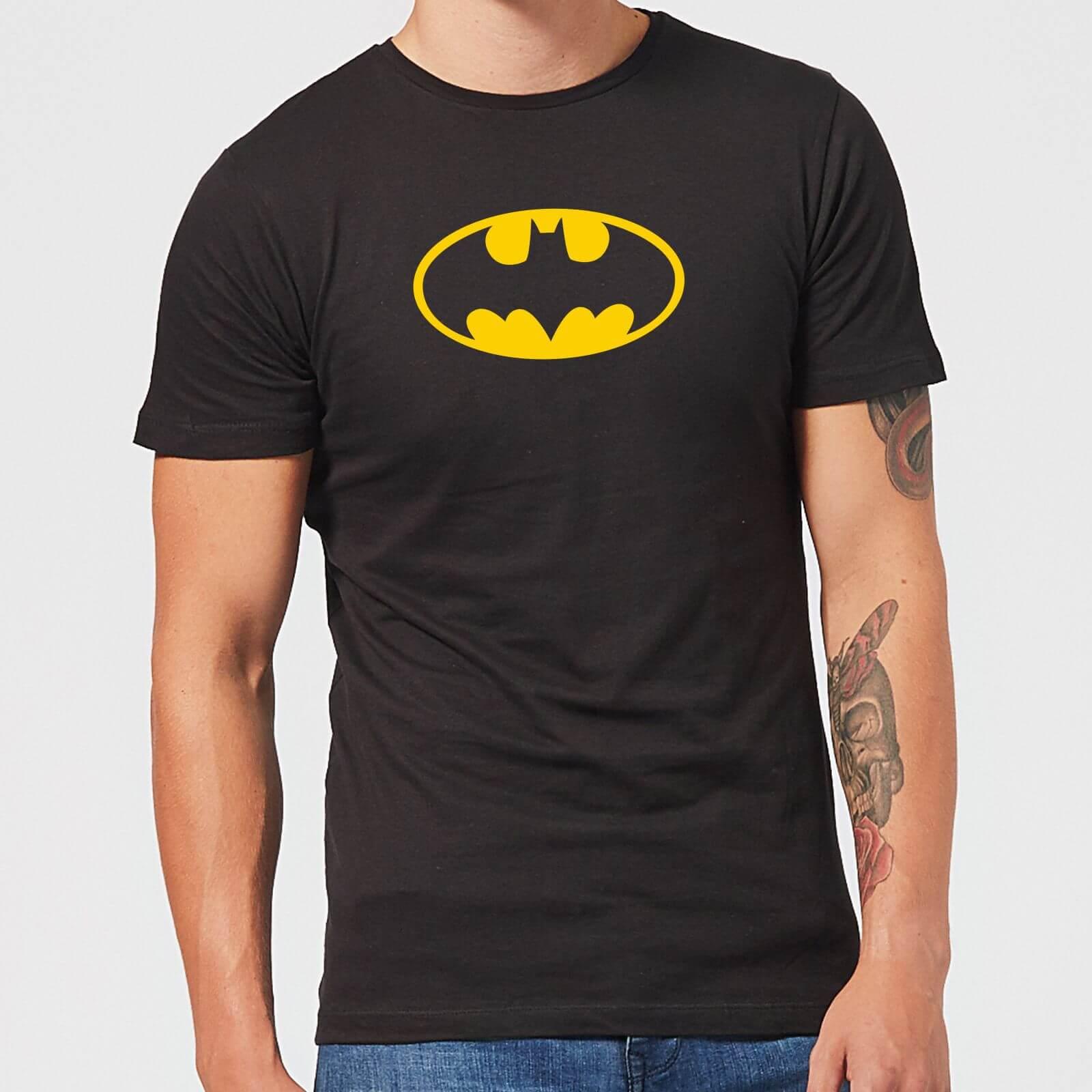 Justice League Batman Logo Men's T-Shirt - Black - S - Black