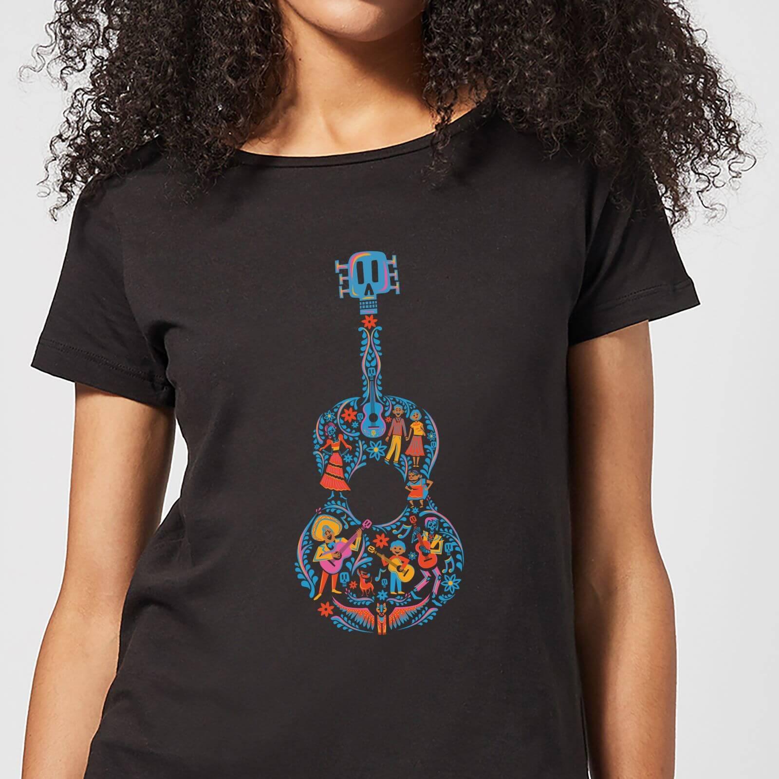 Disney Coco Guitar Pattern Women's T-Shirt - Black - XXL - Black