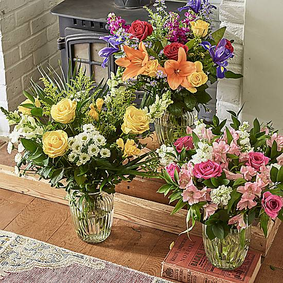 Serenata Flowers Happiness Flower Subscription: Weekly or Monthly Delivery Schedule. Get a free vase with your 1st order.