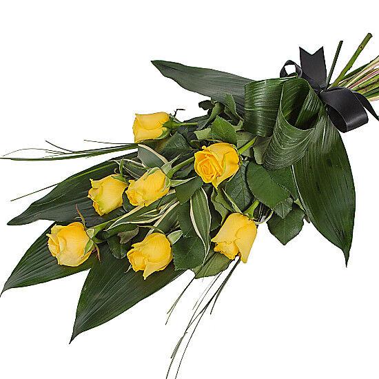 Serenata Flowers Elegant Yellow Rose Sheaf