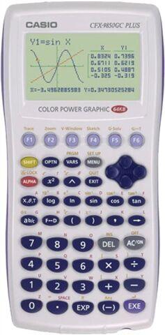 Refurbished: Casio CFX-9850GC PLUS Graphing Calculator, C