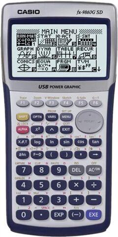 Refurbished: Casio FX-9860G SD Graphing Calculator, C