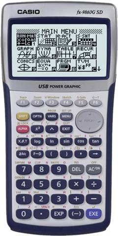 Casio FX-9860G SD Graphing Calculator, C
