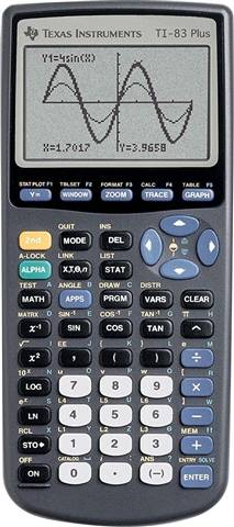 Refurbished: Texas Instruments TI-83 Plus Graphing Calculator, B