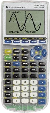 Refurbished: Texas Instruments TI-83 Plus Silver Edition Graphing Calculator, C