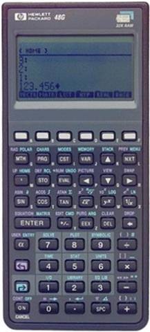 HP48G CAS Graphing Calculator, B