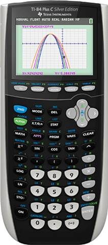 Texas Instruments TI-84 Plus C Silver Edition Graphing Calculator, C