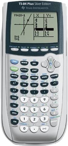 Texas Instruments TI-84 Plus Silver Edition Graphing Calculator, B