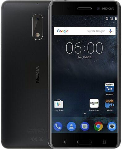 Refurbished: Nokia 6 32GB Black, Unlocked B