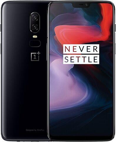 Refurbished: OnePlus 6 128GB Mirror Black 4G, Unlocked B